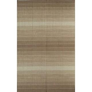 Skylar 718 Brown Stripe Area Rug (8' x 10')
