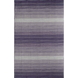 Skylar 5618 Purple Stripe Area Rug (8' x 10')