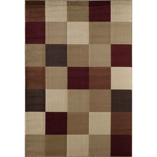 Bowery 8683 Red Geometric Area Rug (8' x 11')