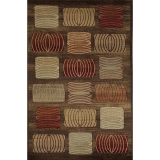 Bowery 5344 Brown Geometric Area Rug (8' x 11')