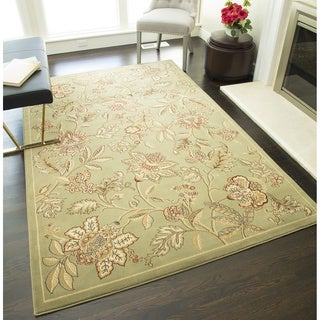 Bowery 1156 Green Geometric Area Rug (8' x 11')