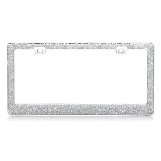 INSTEN Pearls Chrome Metal 6x12-inch Autombile License Plates Frame