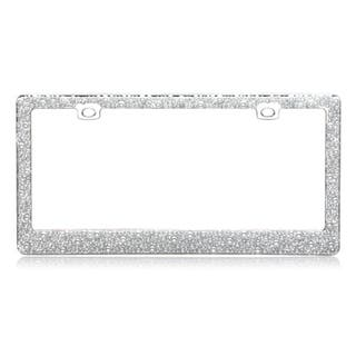 INSTEN Pearls Chrome Metal 6x12-inch Autombile License Plates Frame|https://ak1.ostkcdn.com/images/products/9807434/P16974033.jpg?impolicy=medium