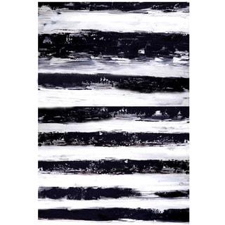 Aurelle Home 'Stripes Horizontal' Canvas Art Print