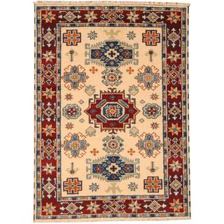 Herat Oriental Indo Hand-knotted Tribal Kazak Wool Rug (4'9 x 6'7)