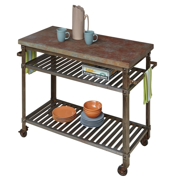 Urban Metal Kitchen Cart: Urban Style Kitchen Cart By Home Styles