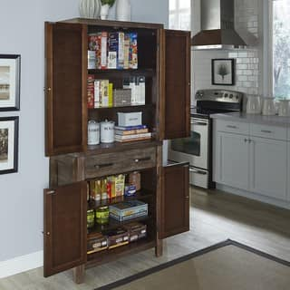 home styles barnside wood pantry - Kitchen Pantry Furniture