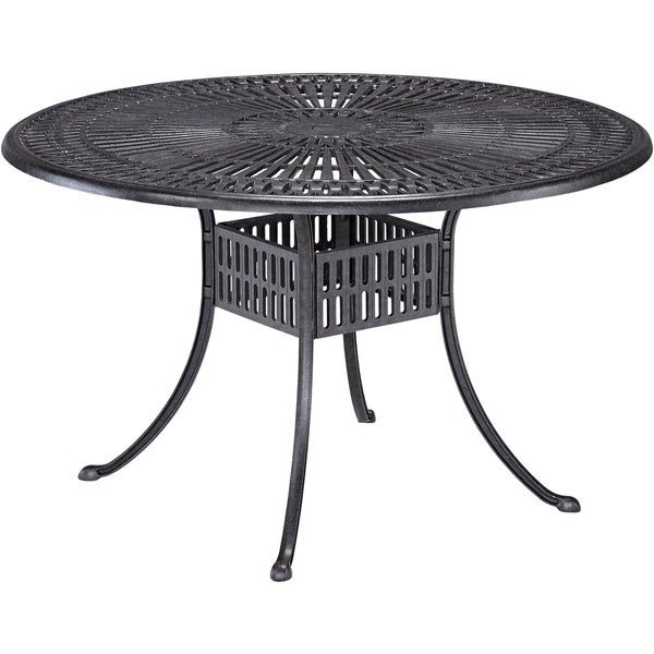 Round Outdoor Metal Table To Largo 48inch Round Outdoor Dining Table By Home Styles Shop Free