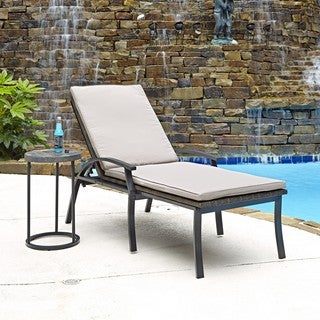 Laguna Chaise Lounge Chair/ Accent Table by Home Styles