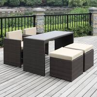 Havenside Home Duxbury Beige 5-piece Indoor/ Outdoor Resin Rattan Set