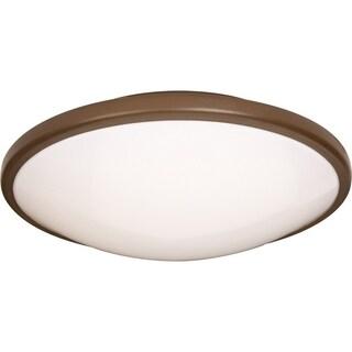 Maxim 2-light Bronze Rim White Shade EE Flush Mount Light