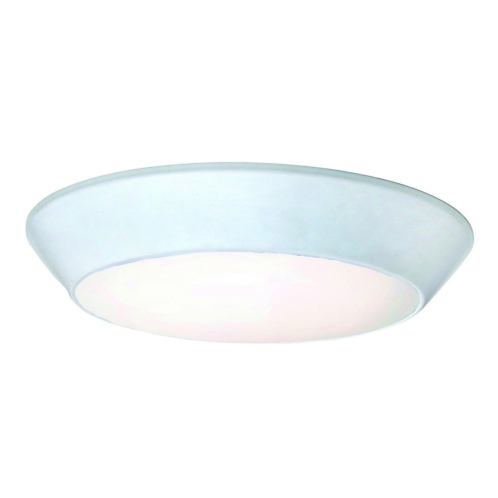 Maxim 1-light White Shade White Convert Flush Mount Light (Convert LED Flush Mount)