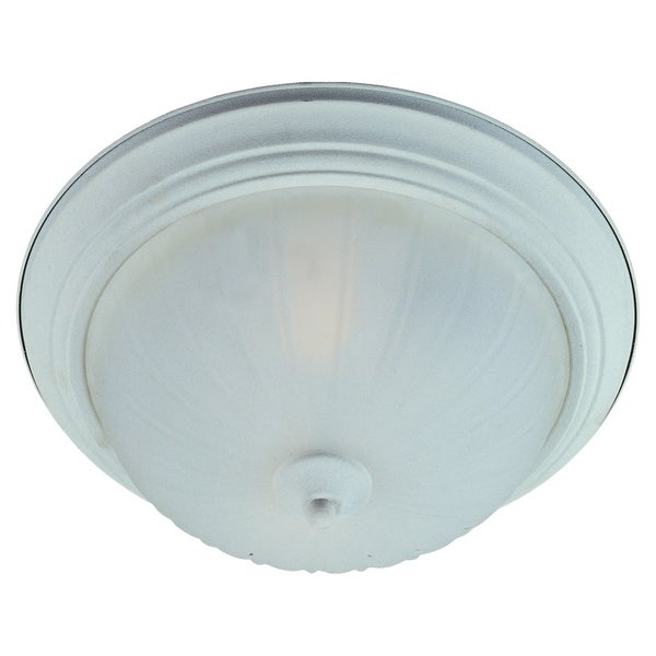 Maxim Frosted Shade 2-light White Flush Mount Light EE Flush Mount Light