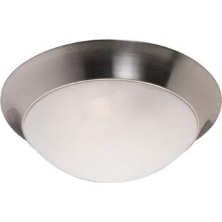 Maxim Marble Shade 3-light Nickel Flair EE Flush Mount Light