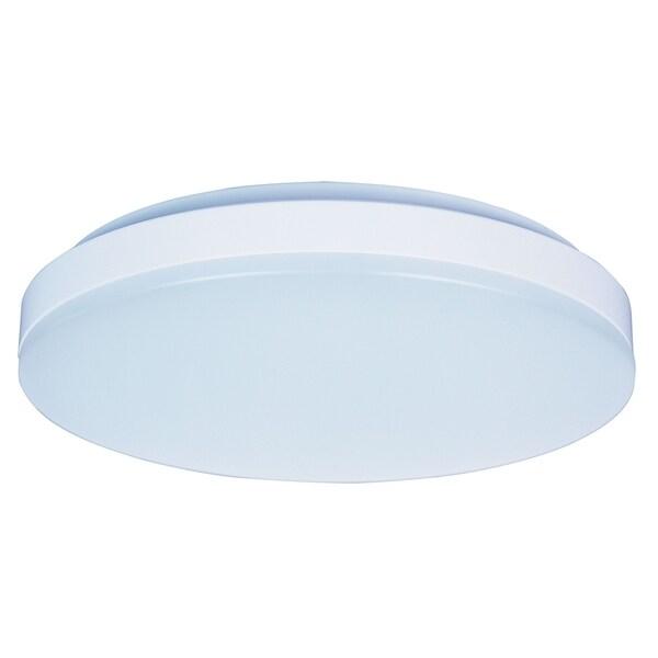 Maxim 1-light White Shade White Profile EE Flush Mount Light