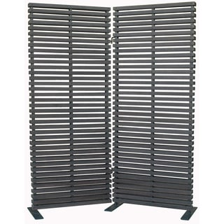 Aurelle Home Hard Wood Black Room Divider