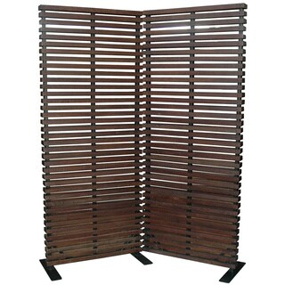 Aurelle Home Hard Wood Brown Room Divider