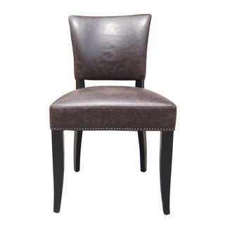Aurelle Home Berlin Side Chair Brown (Set of 2)