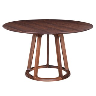 Aurelle Home Round Solid American Walnut Mid-century Style Dining Table