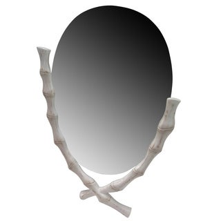 Aurelle Home Distressed White Decorative Mirror