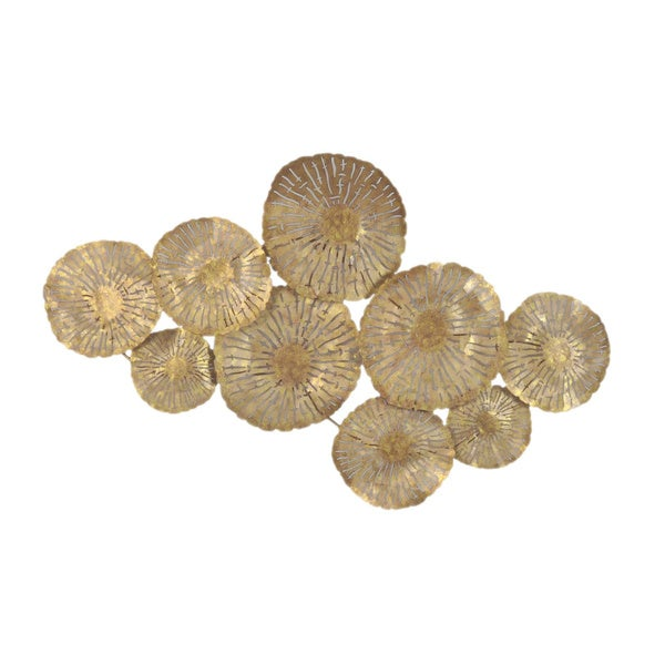 Charming Aurelle Home Large Gold Circles Metal Art Wall Decor