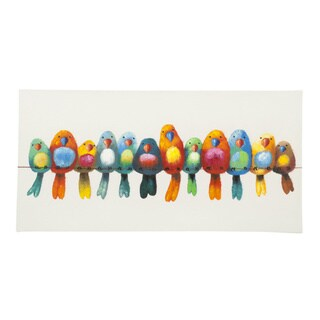 Aurelle Home Colored Birds Canvas
