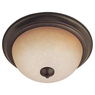 Maxim Wilshire Shade 3-light Bronze Flush Mount Light EE Flush Mount Light