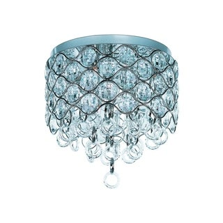 Maxim Beveled Crystal Shade 7-light Chrome Cirque Flush Mount Light