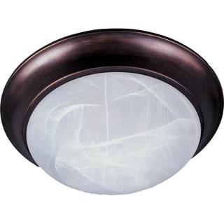 Maxim Marble Shade 2-light Bronze Essentials 5850 Flush Mount Light