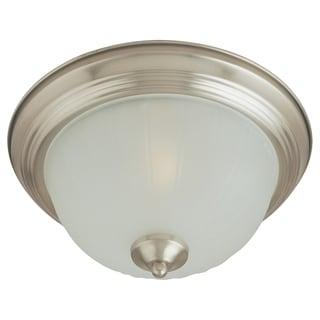 Maxim Frosted Shade 3-light Nickel Essentials 583x Flush Mount Light