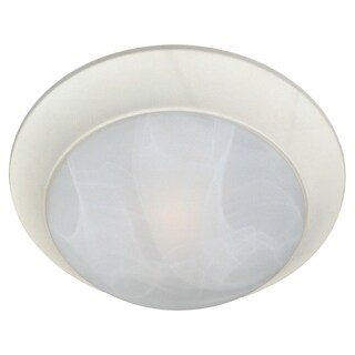 Maxim Marble Shade 1-light White Essentials 5850 Flush Mount Light