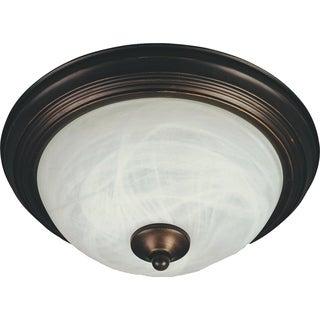 Maxim Marble Shade 2-light Bronze Flush Mount Light EE Flush Mount Light