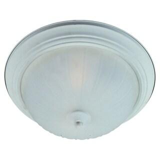 Maxim Frosted Shade 1-light White Flush Mount Light EE Flush Mount Light