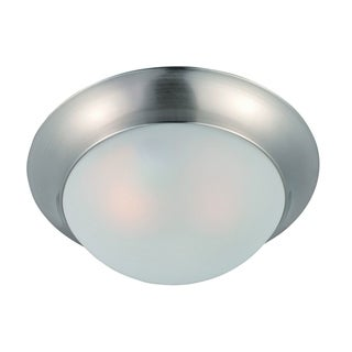 Maxim Frosted Shade 1-light Nickel Essentials 5850 Flush Mount Light