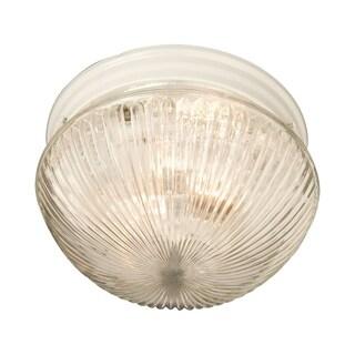Maxim Clear Shade 1-light White Essentials 588x Flush Mount Light