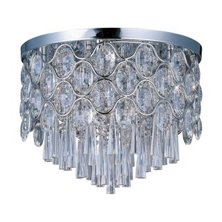 Maxim Beveled Crystal Shade 12-light Chrome Jewel Flush Mount Light