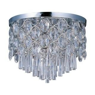 Maxim Beveled Crystal Shade 12-light Chrome Jewel Flush Mount Light