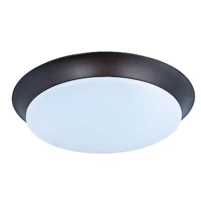 Maxim 1-light Bronze Profile EE Flush Mount Light