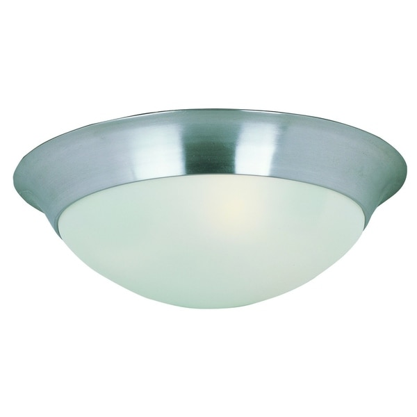 Maxim Frosted Shade 2-light Nickel Essentials 5850 Flush Mount Light