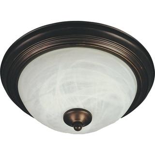 Maxim Marble Shade 1-light Bronze Flush Mount Light EE Flush Mount Light