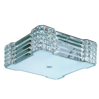 Maxim 4-light Chrome Manhattan Flush Mount Light