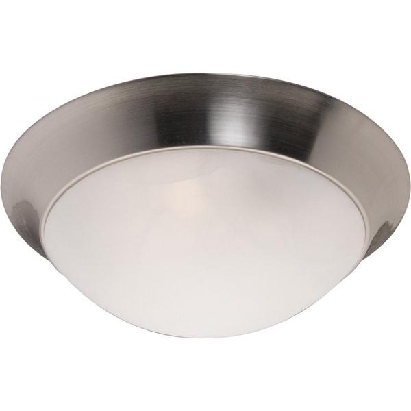 Maxim Marble Shade 2-light Nickel Flair EE Flush Mount Light