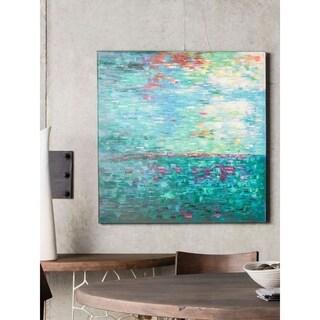 Aurelle Home 'Aqua' Canvas Art Print