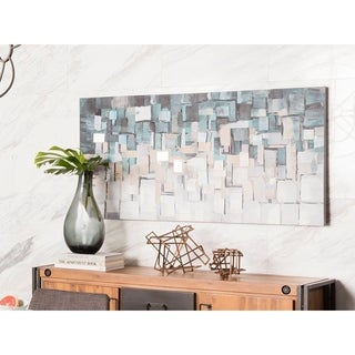 Aurelle Home Wall Decor Teal Square Canvas Art