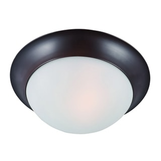 Maxim Frosted Shade 1-light Bronze Essentials 5850 Flush Mount Light