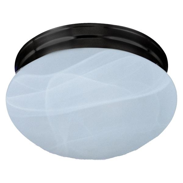 Maxim Marble Shade 2-light Bronze Essentials 588x Flush Mount Light