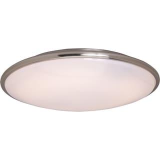 Maxim Acrylic White Lens Shade 2-light Nickel Rim EE Flush Mount Light