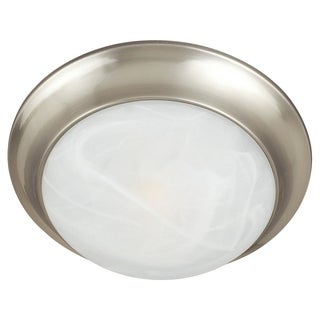 Maxim Marble Shade 2-light Nickel Essentials 5850 Flush Mount Light