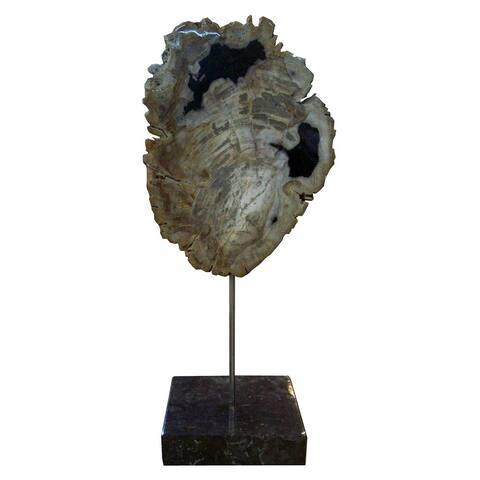 Aurelle Home Wood Sculpture On Black Marble Base