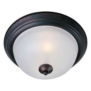 Maxim Frosted Shade 1-light Bronze Essentials 584x Flush Mount Light